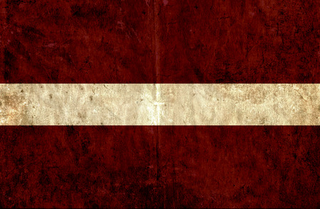 grungy: Grungy paper flag of Latvia