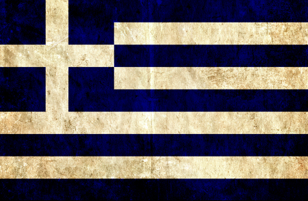 run down: Grungy paper flag of Greece