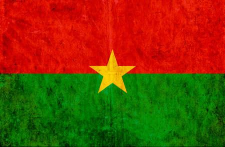 burkina faso: Grungy paper flag of Burkina Faso