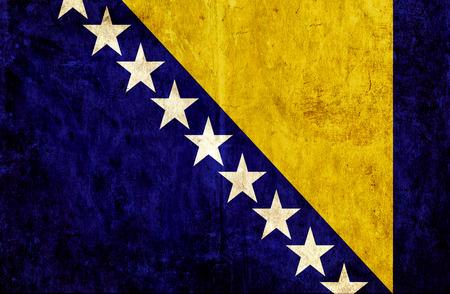 bosnia and herzegovina flag: Grungy paper flag of Bosnia and Herzegovina