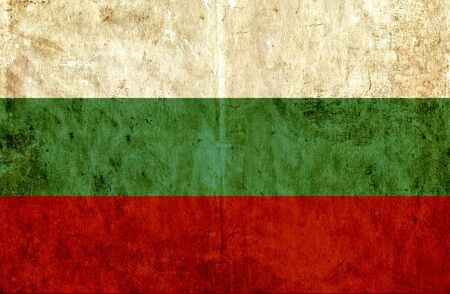 run down: Grungy paper flag of Bulgaria