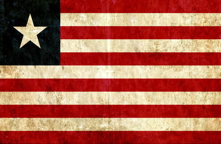 grungy: Grungy paper flag of Liberia
