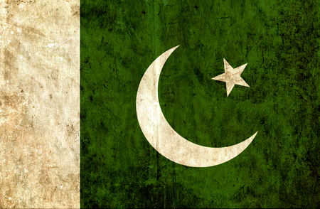 smudged: Grungy paper flag of Pakistan Stock Photo