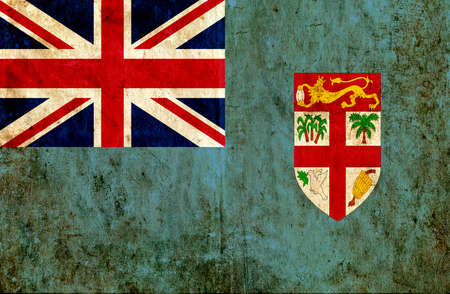 grungy: Grungy paper flag of Fiji