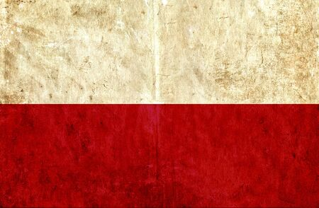 run down: Grungy paper flag of Poland