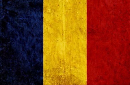 grungy: Grungy paper flag of Romania