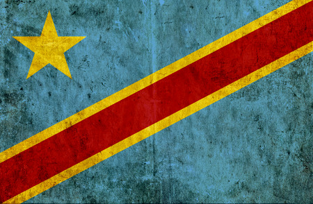 run down: Grungy paper flag of Congo Democratic Republic