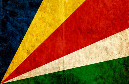 seychelles: Grungy paper flag of Seychelles