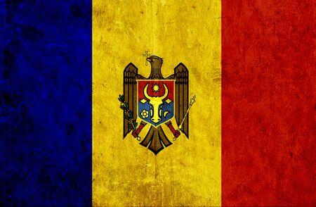moldavia: Grungy paper flag of Moldavia Stock Photo