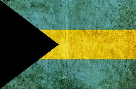 bahamas: Grungy paper flag of Bahamas