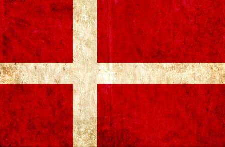 grungy: Grungy paper flag of Denmark Stock Photo