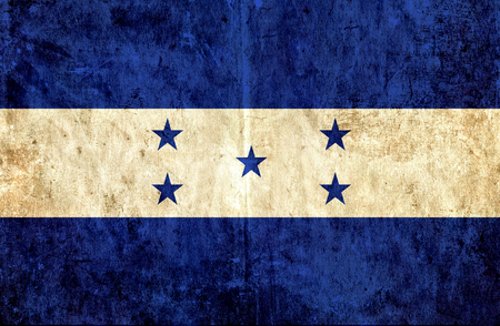 run down: Grungy paper flag of Honduras