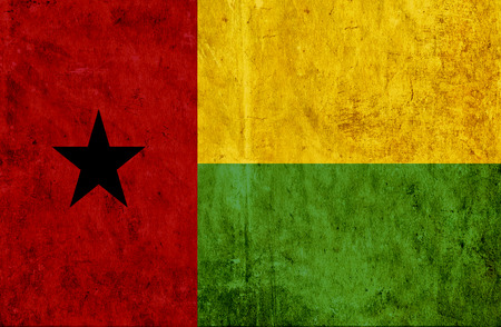 run down: Grungy paper flag of Guinea Bissau Stock Photo