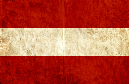 grungy: Grungy paper flag of Austria
