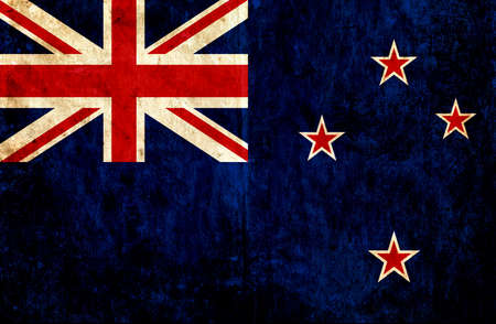 grungy: Grungy paper flag of New Zealand