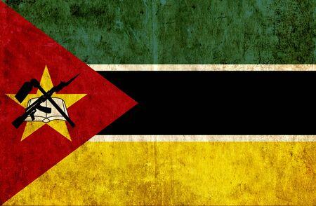 mozambique: Grungy paper flag of Mozambique