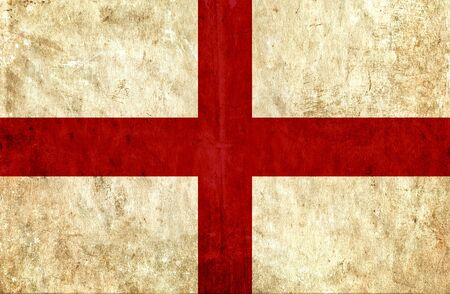 grungy: Grungy paper flag of England