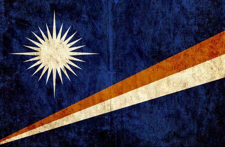 marshall: Grungy paper flag of Marshall Islands Stock Photo