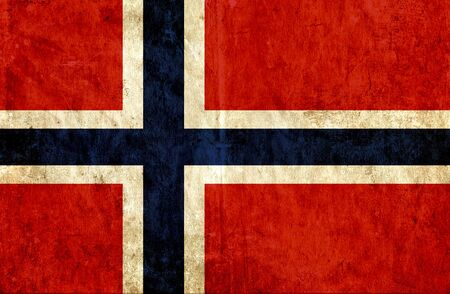 grungy: Grungy paper flag of Norway
