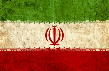 run down: Grungy paper flag of Iran Stock Photo