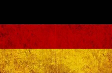 run down: Grungy paper flag of Germany