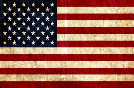 bandera de papel sucio de Estados Unidos de América Foto de archivo