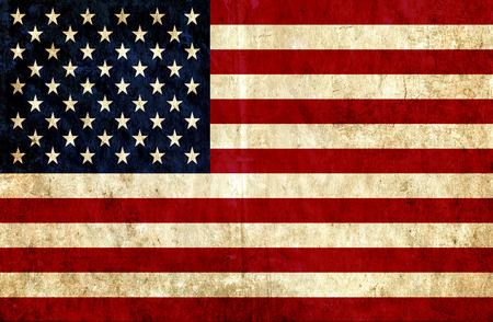 banderas america: bandera de papel sucio de Estados Unidos de América Foto de archivo