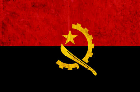 grungy: Grungy paper flag of Angola Stock Photo