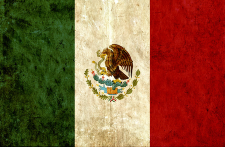 Grungy papier vlag van Mexico Stockfoto