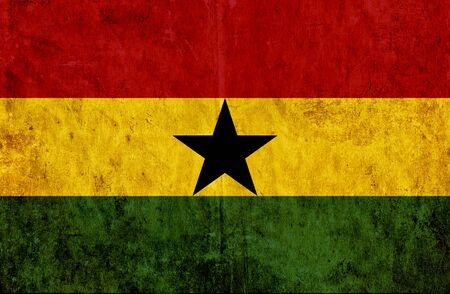 grungy: Grungy paper flag of Ghana Stock Photo