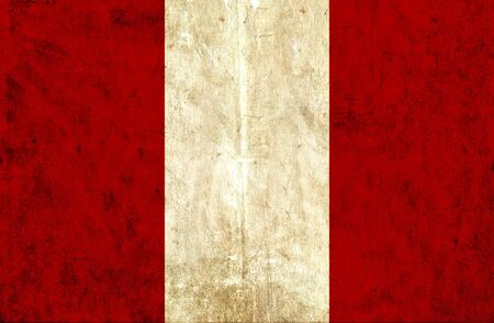 grungy: Grungy paper flag of Peru