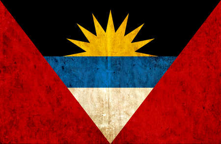 barbuda: Grungy paper flag of Antigua and Barbuda