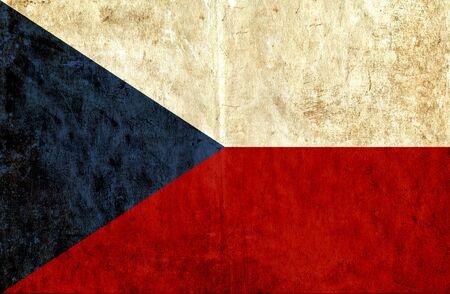 the czech republic: Grungy paper flag of Czech Republic