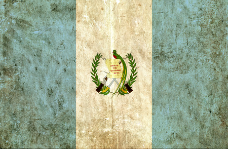 run down: Grungy paper flag of Guatemala