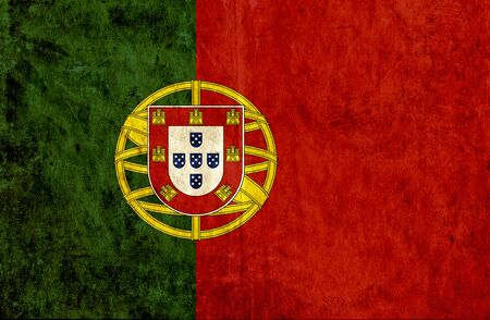 run down: Grungy paper flag of Portugal Stock Photo