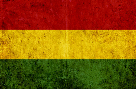 bolivia: Grungy paper flag of Bolivia