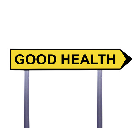 buena salud: muestra de la flecha conceptual aislado en blanco - BUENA SALUD