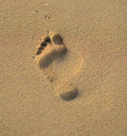 footstep: Footstep and beach