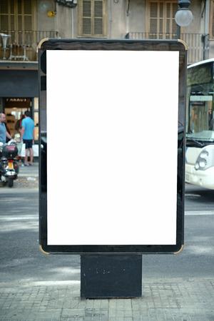 billboard posting: Empty city billboard Stock Photo