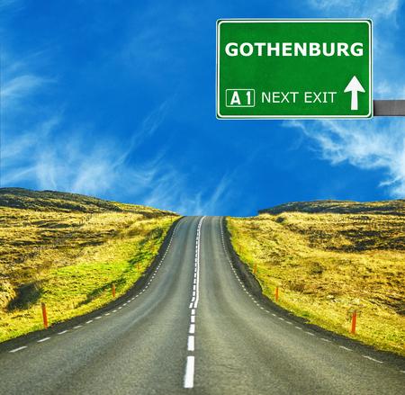 gothenburg: GOTHENBURG road sign against clear blue sky