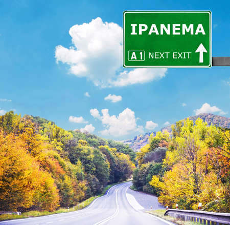 chill out: IPANEMA road sign against clear blue sky