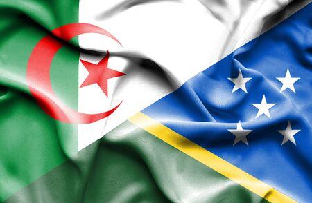 solomon: Waving flag of Solomon Islands and Algeria