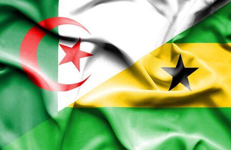 principe: Ondeando la bandera de Santo Tomé y Príncipe y Argelia