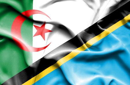 tanzania: Waving flag of Tanzania and Algeria