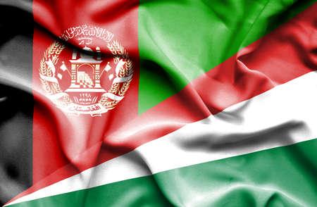 seychelles: Waving flag of Seychelles and Afghanistan