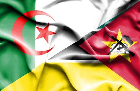 mozambique: Waving flag of Mozambique and Algeria