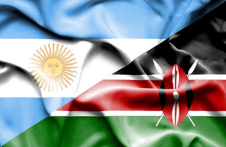 kenya: Waving flag of Kenya and
