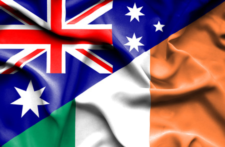 irish history: Waving flag of Ireland and