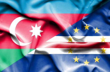 verde: Waving flag of Cape Verde and  Azerbaijan