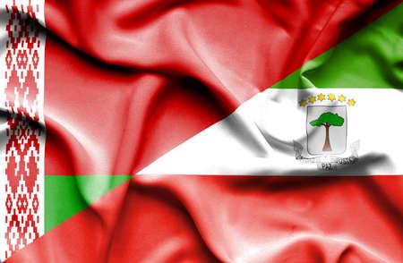 equatorial: Waving flag of Equatorial Giuinea and Belarus